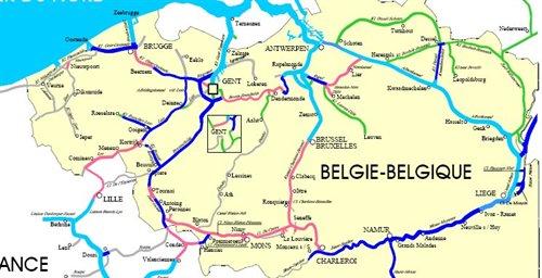 Carte Belgique Canaux.Canal Du Centre Carte My Blog